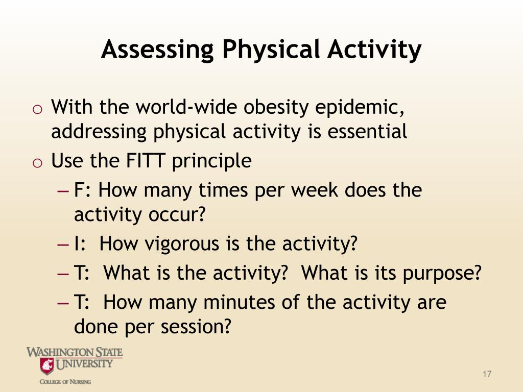Assessing Physical Activity