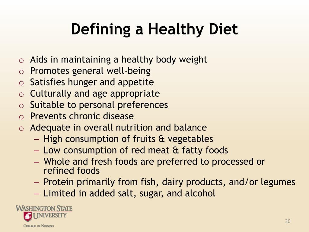 Defining a Healthy Diet