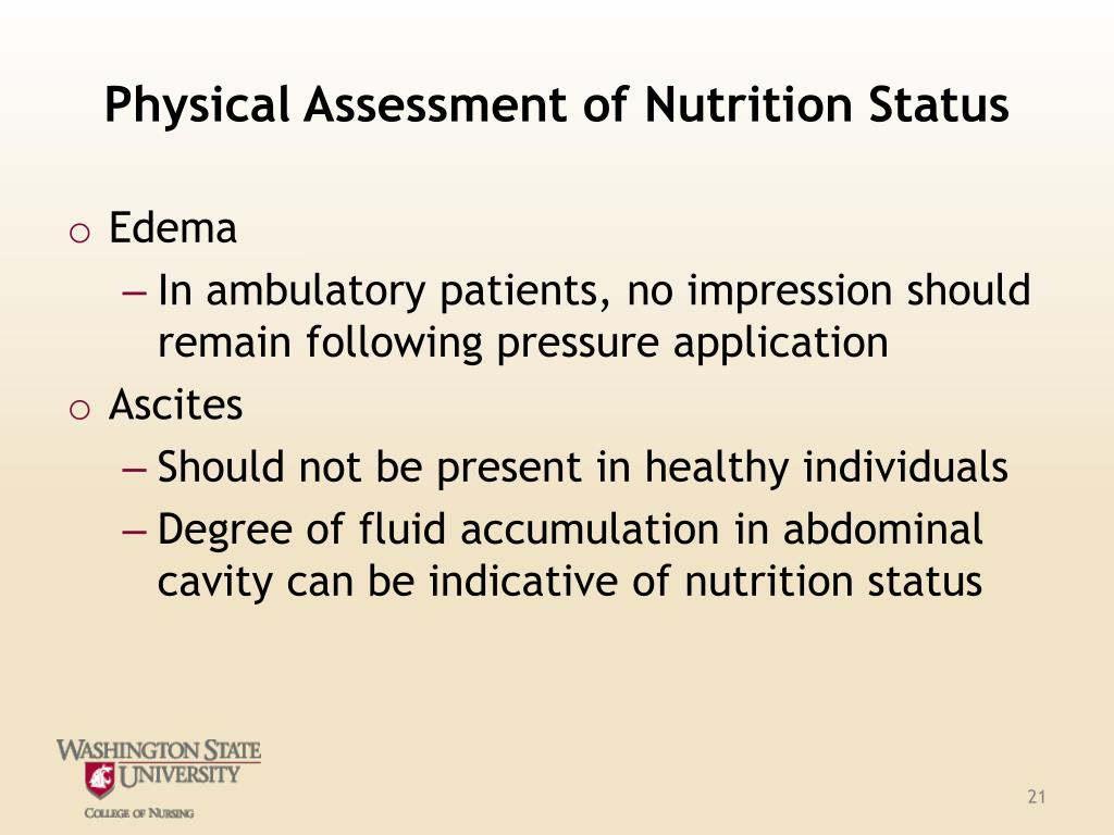 Physical Assessment of Nutrition Status