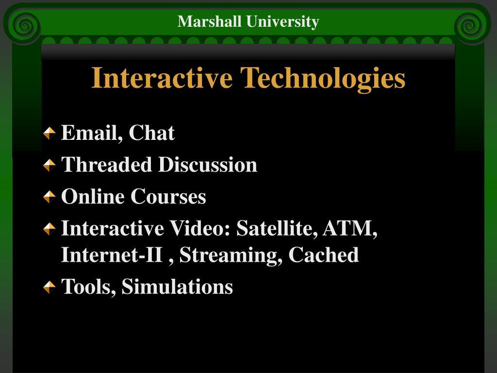 Interactive Technologies