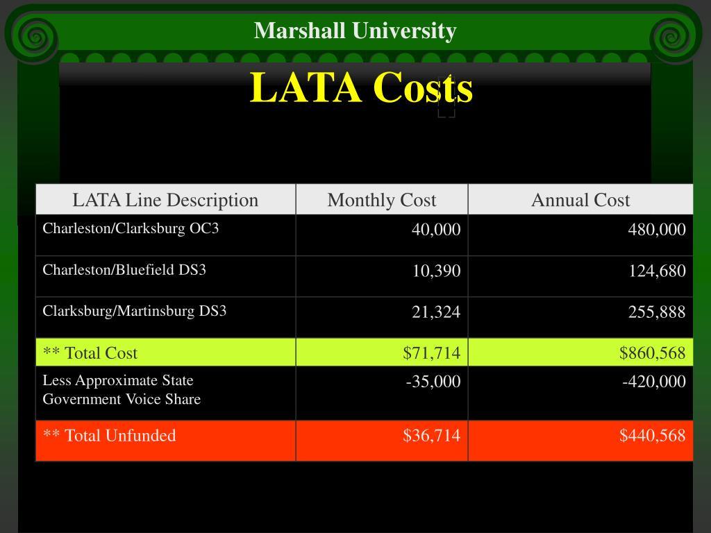 LATA Costs