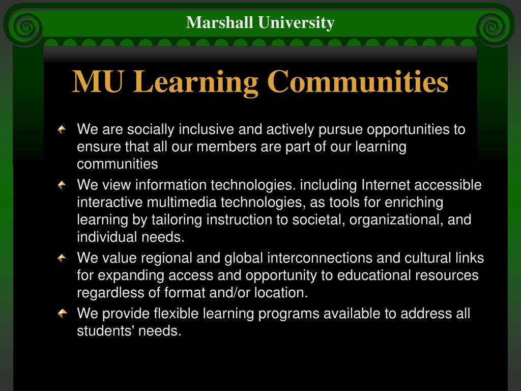 MU Learning Communities