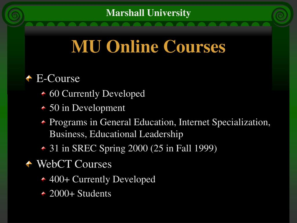 MU Online Courses