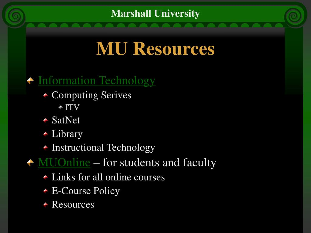 MU Resources