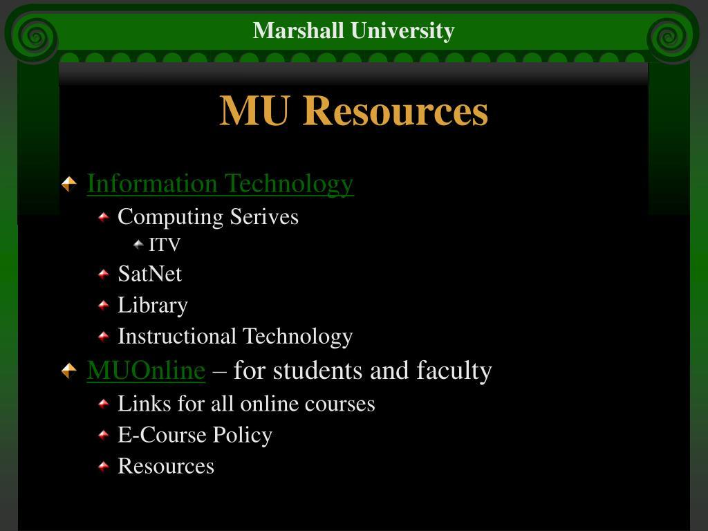 MU Resources