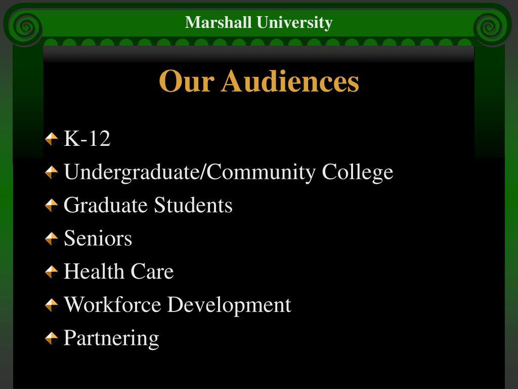 Our Audiences