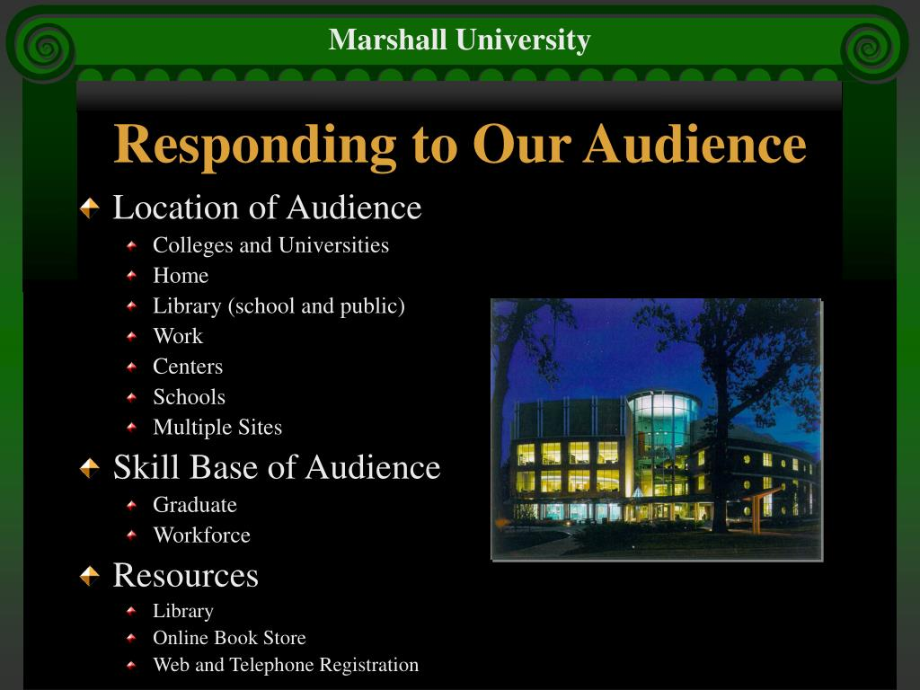 Responding to Our Audience