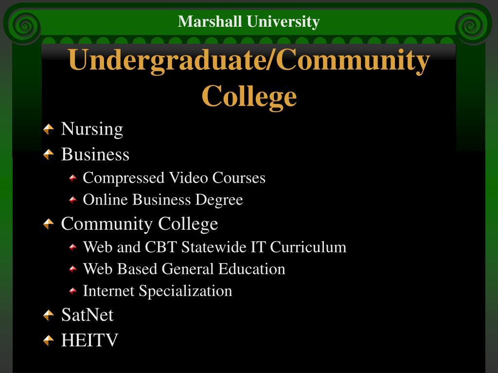 Undergraduate/Community College