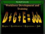 workforce development and training