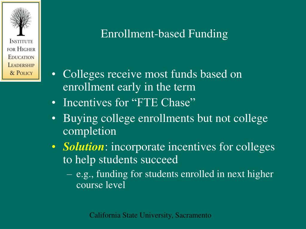 Enrollment-based Funding