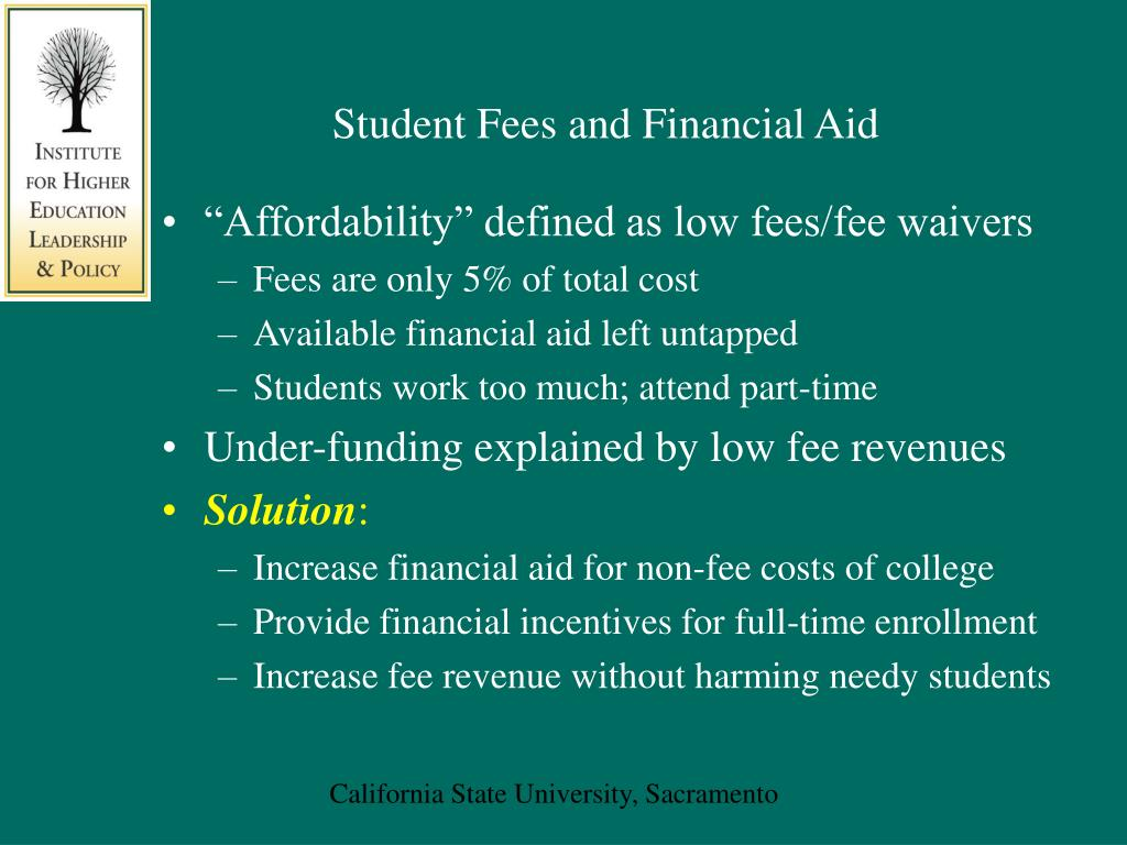 Student Fees and Financial Aid