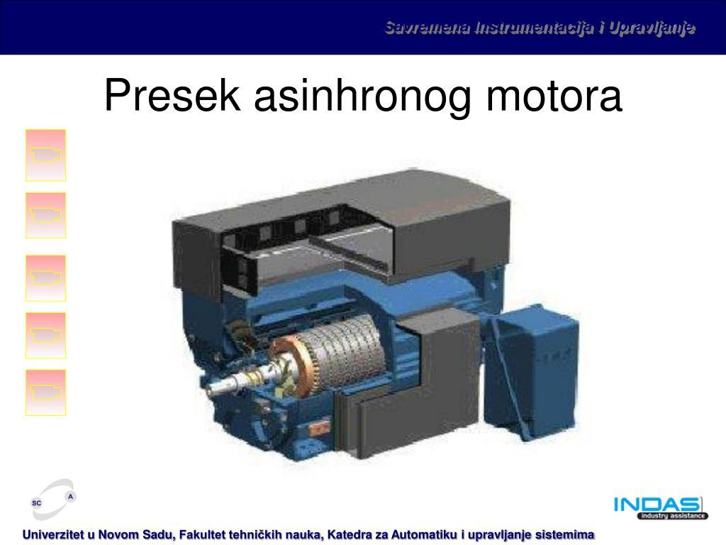 Presek asinhronog motora