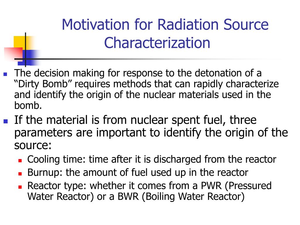 Motivation for Radiation Source Characterization