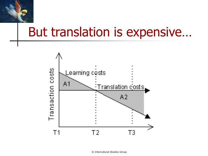 But translation is expensive
