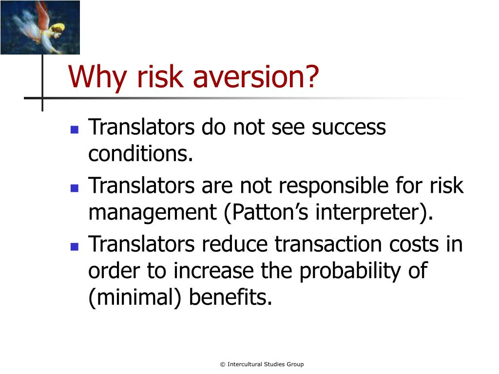 Why risk aversion?