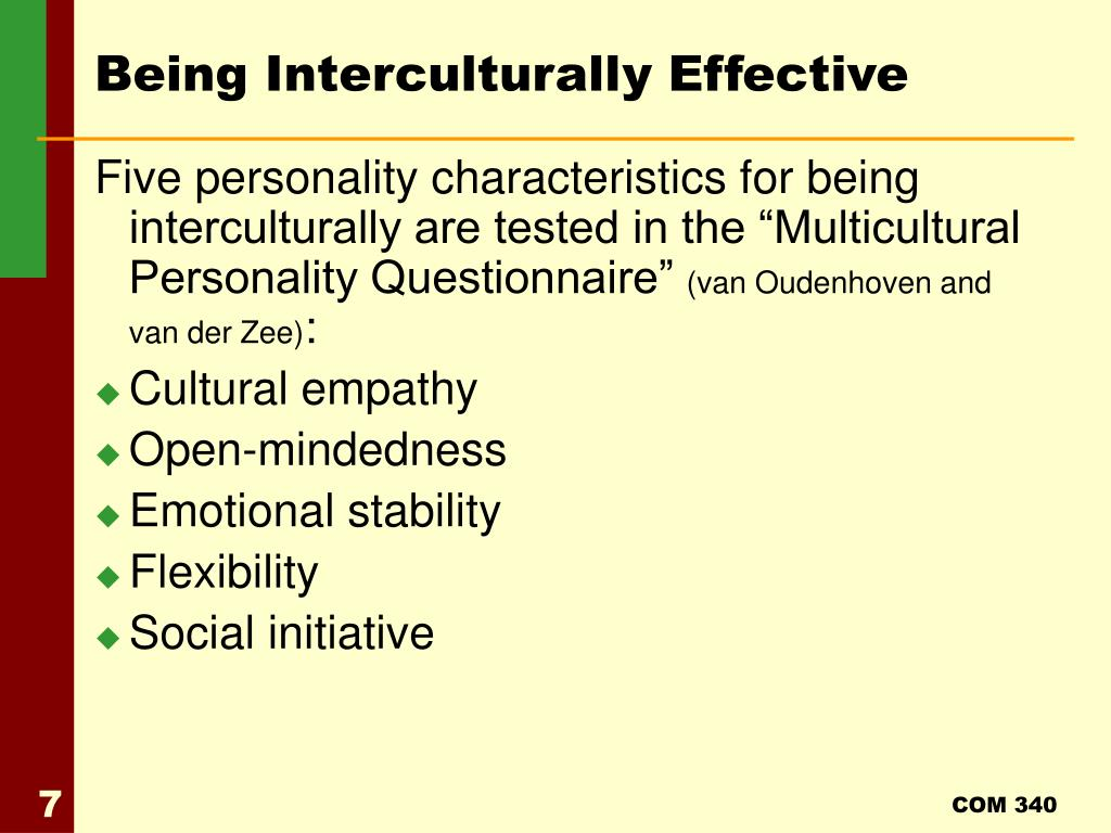 Being Interculturally Effective