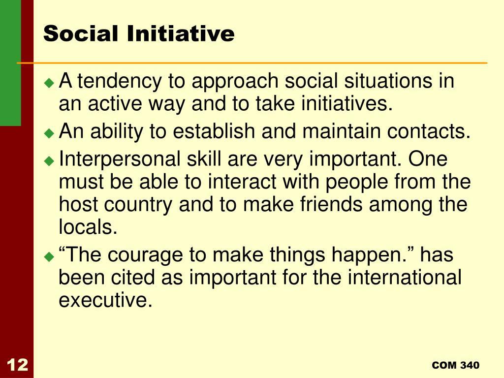Social Initiative