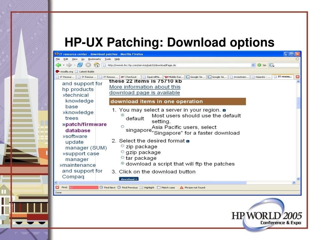 HP-UX Patching: Download options