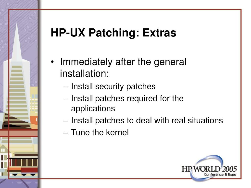 HP-UX Patching: Extras