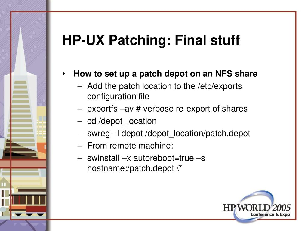 HP-UX Patching: Final stuff