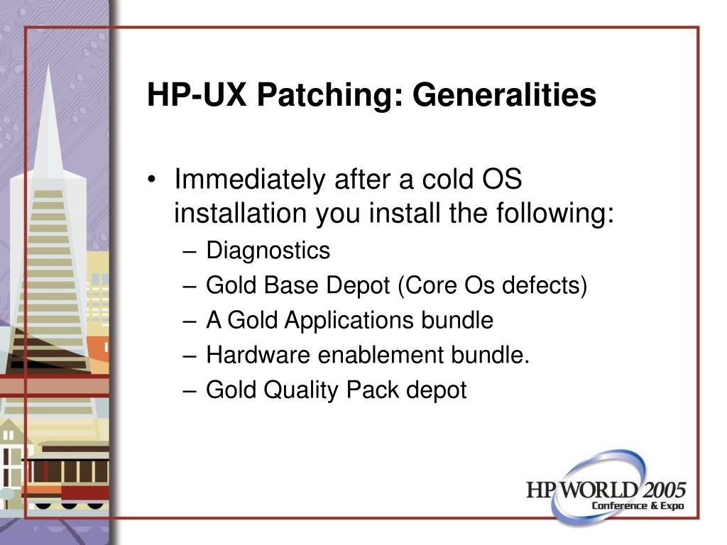 HP-UX Patching: Generalities