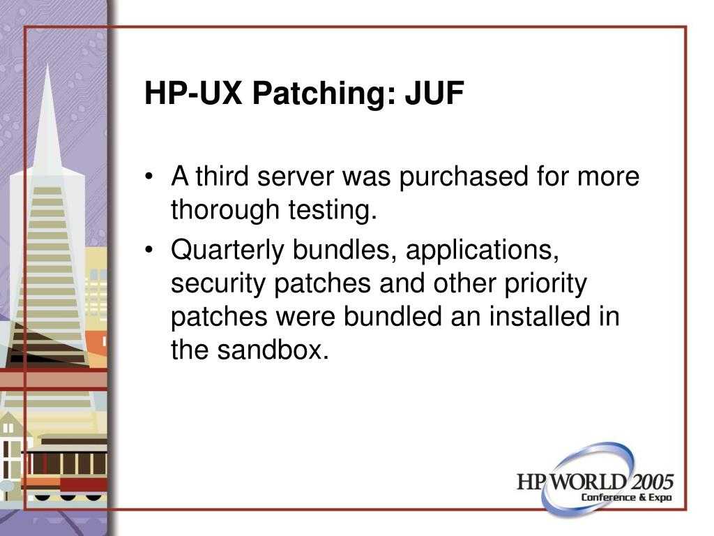 HP-UX Patching: JUF