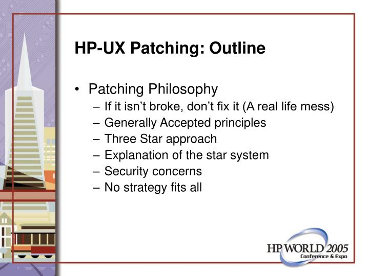 Hp ux patching outline3