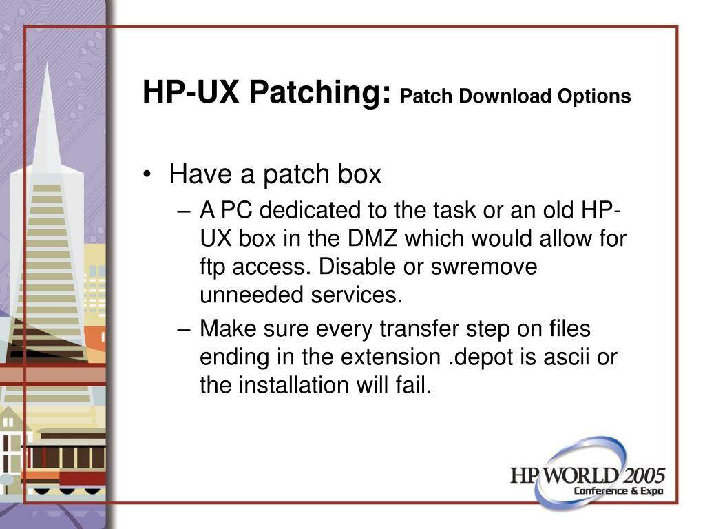 HP-UX Patching:
