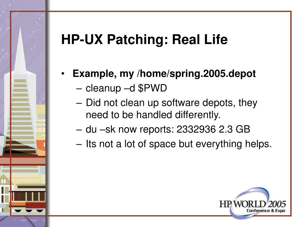HP-UX Patching: Real Life
