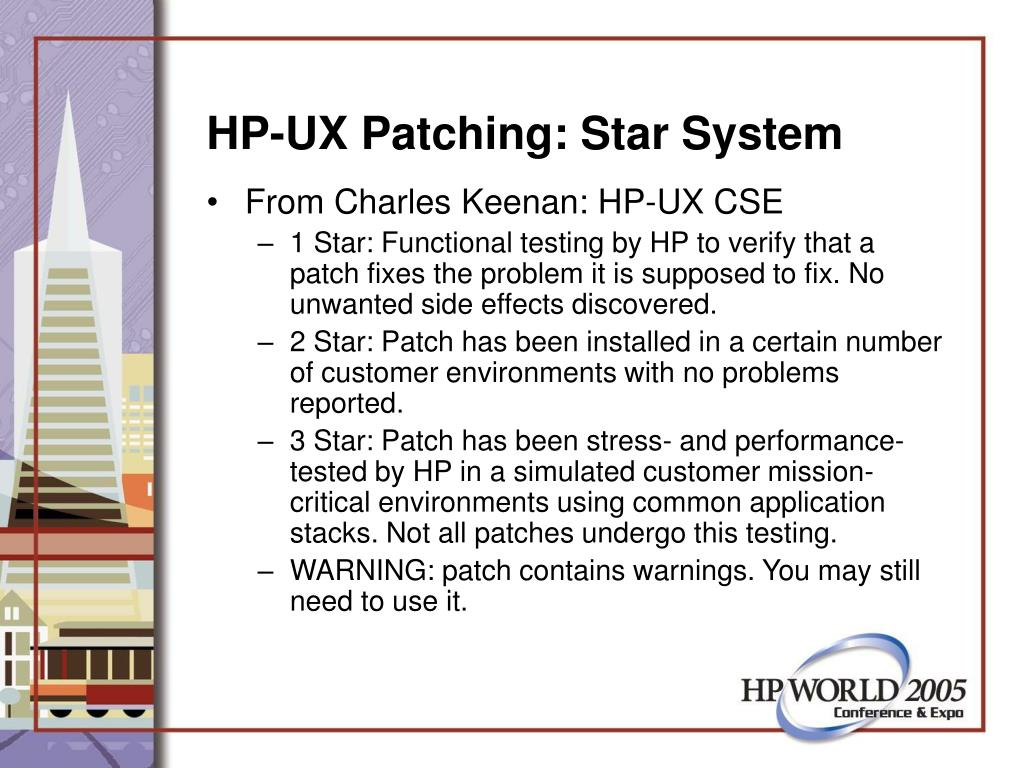 HP-UX Patching: Star System