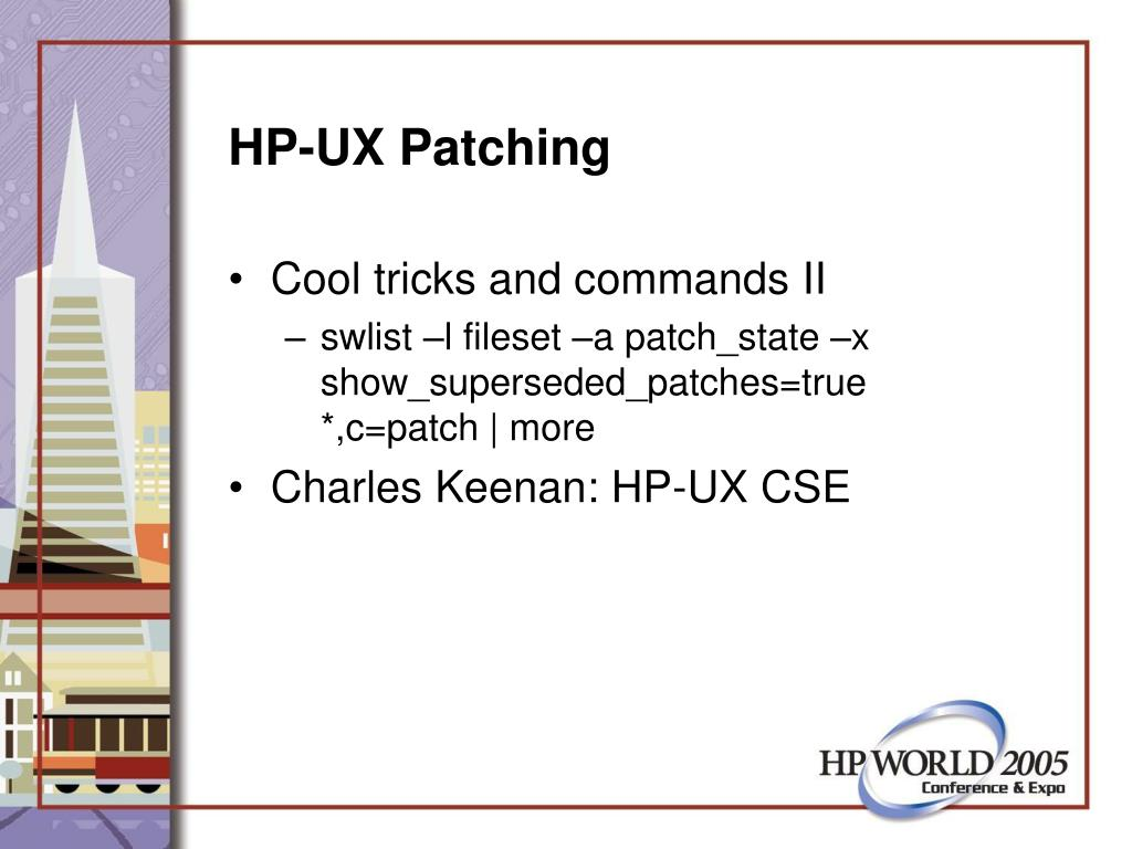 HP-UX Patching
