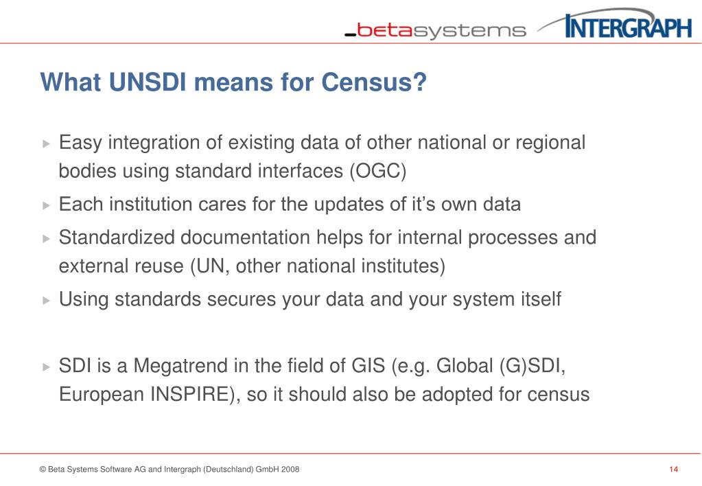 What UNSDI means for Census?