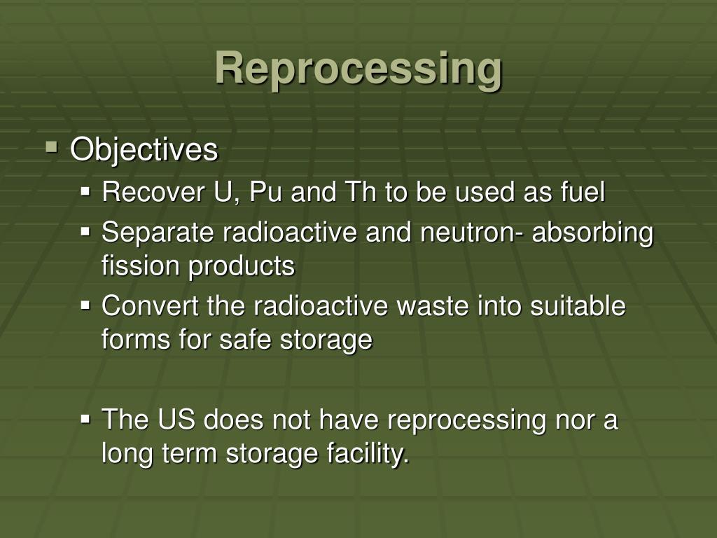 Reprocessing