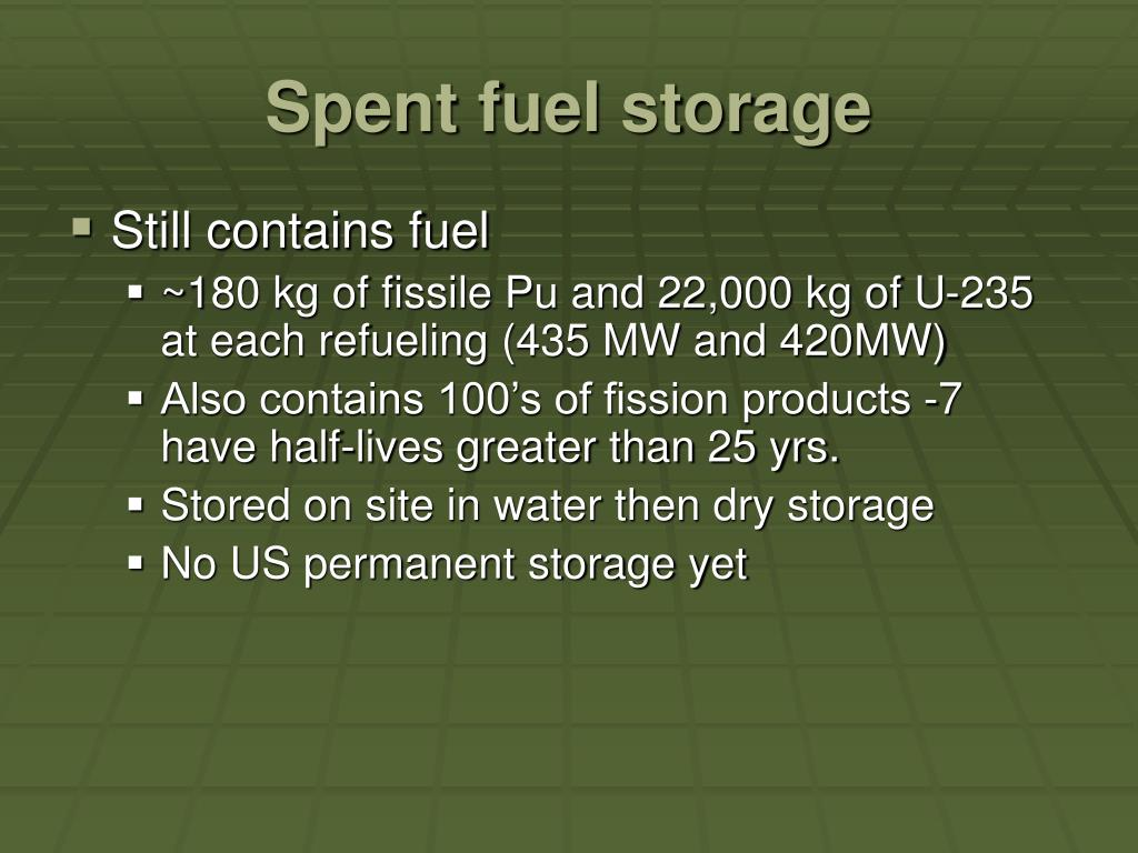 Spent fuel storage