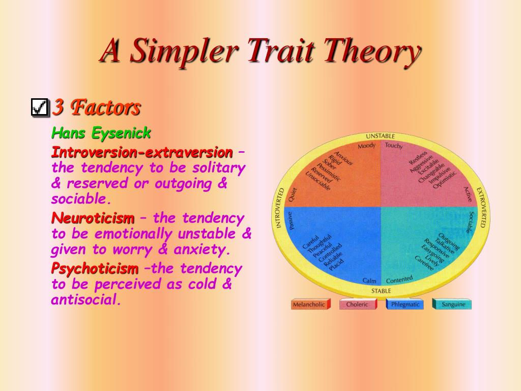 A Simpler Trait Theory