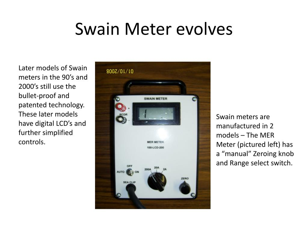 Swain Meter evolves