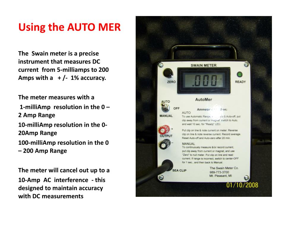 Using the AUTO MER