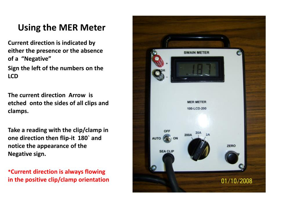 Using the MER Meter