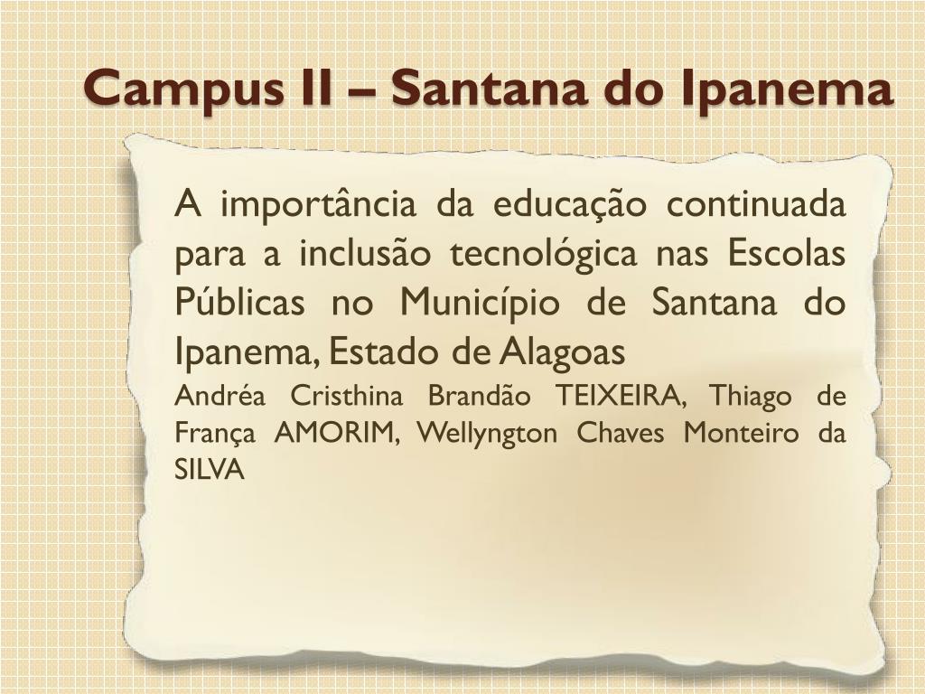 A importância da educação continuada para a inclusão tecnológica nas Escolas Públicas no Município de Santana do Ipanema, Estado de Alagoas