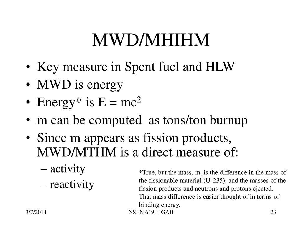 MWD/MHIHM