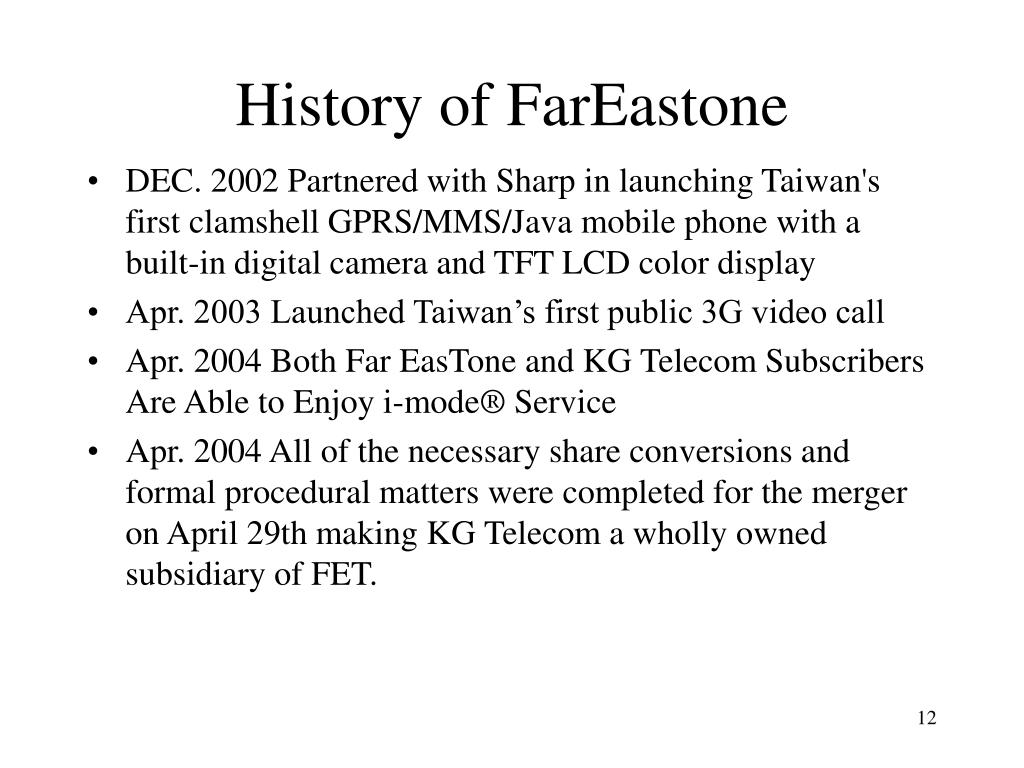 History of FarEastone
