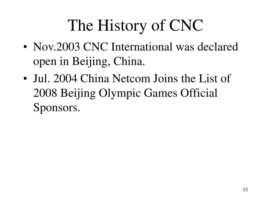 The History of CNC