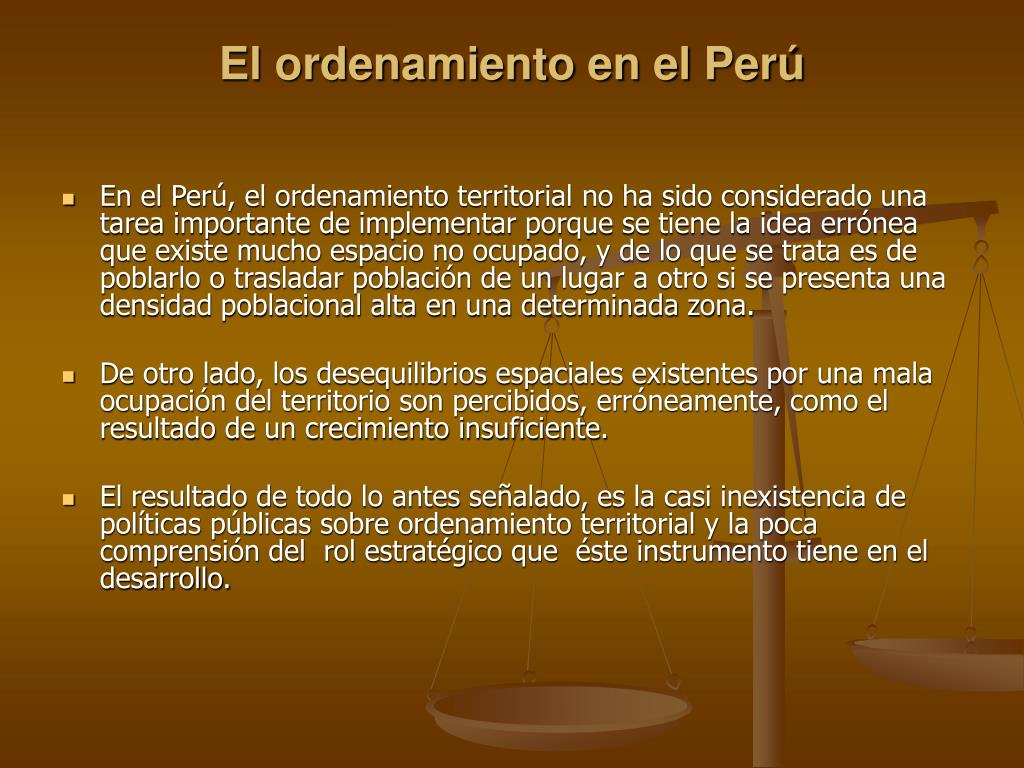 El ordenamiento en el Perú