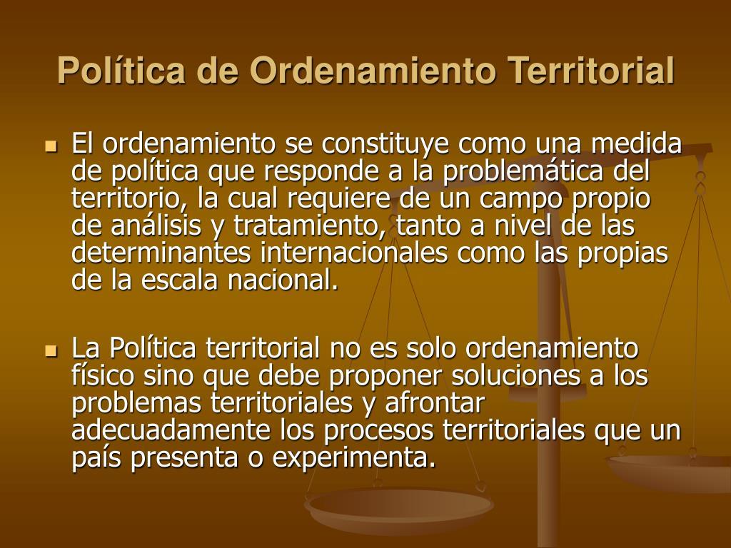 Política de Ordenamiento Territorial