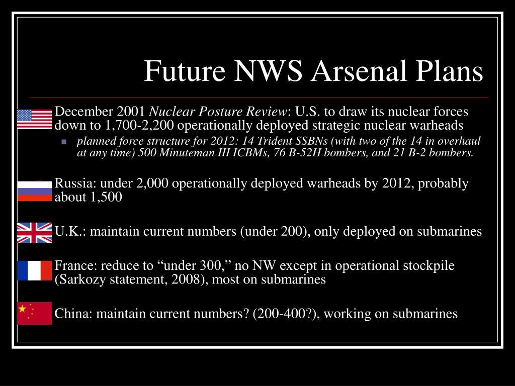 Future NWS Arsenal Plans