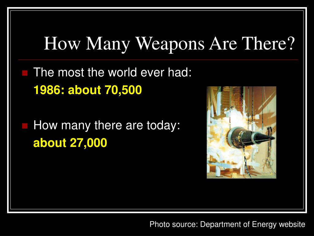 How Many Weapons Are There?