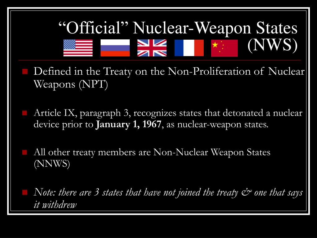 """Official"" Nuclear-Weapon States (NWS)"