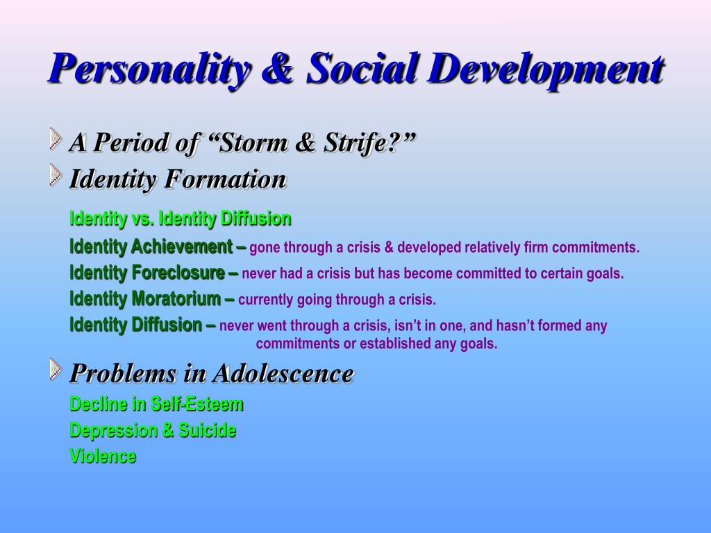 Personality & Social Development