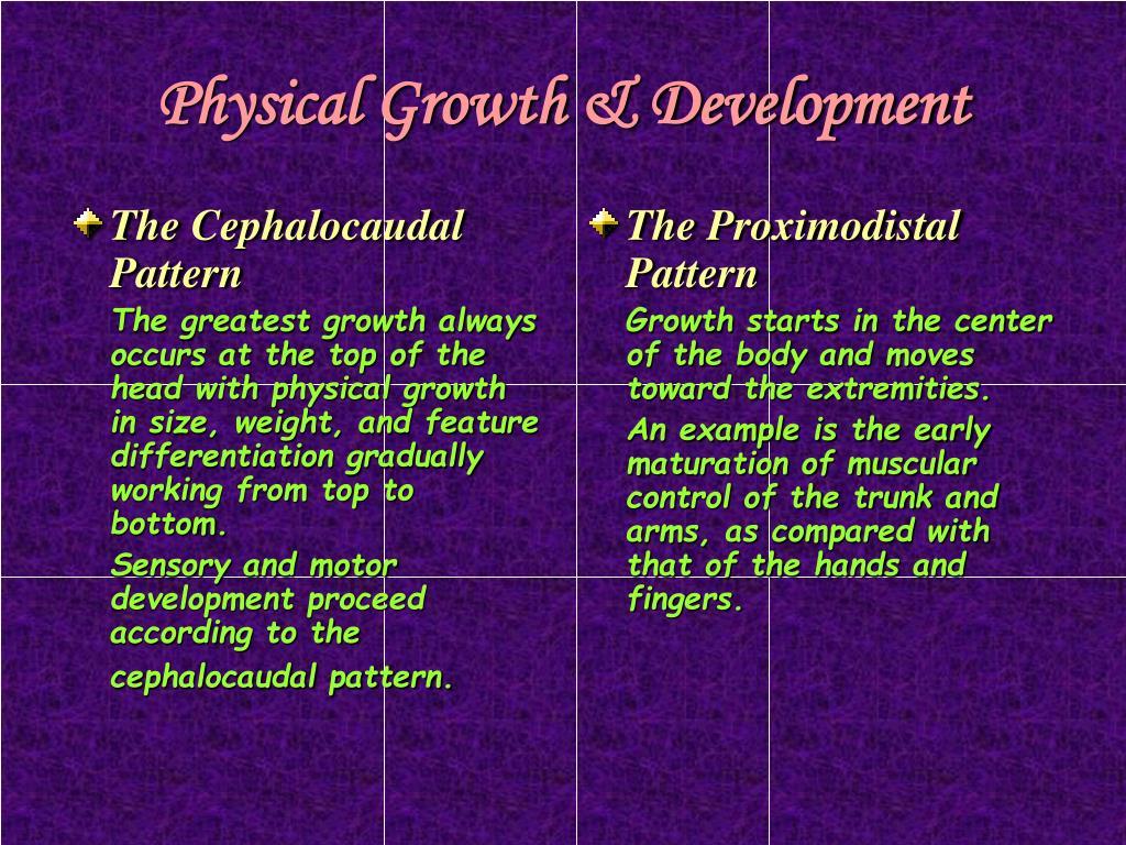 The Cephalocaudal Pattern