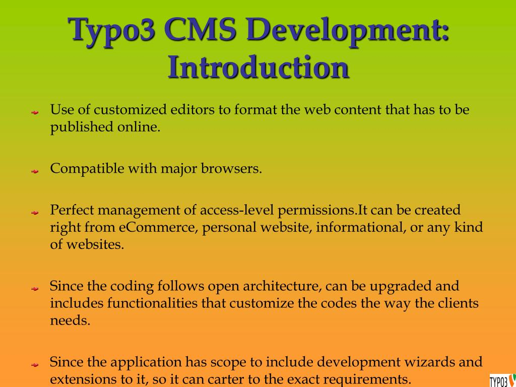 Typo3 CMS Development: Introduction